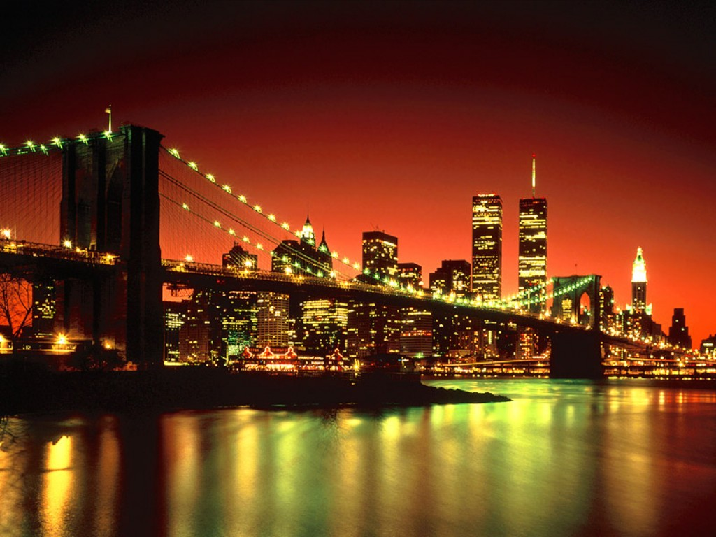 new york under lights wallpaper