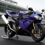 blue kawasaki bikes picture