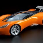 orange car wallpaper