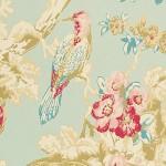 bird bush floral wallpaper