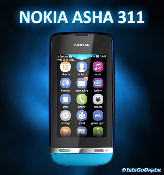 Nokia Asha 311 Blue