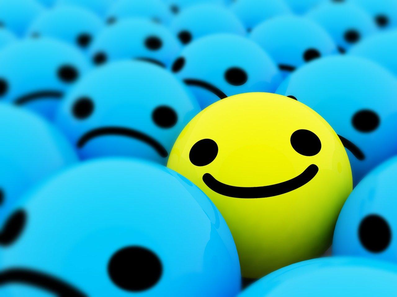 blue smile picture