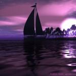 purple sea wallpaper