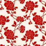 romom red floral wallppaer