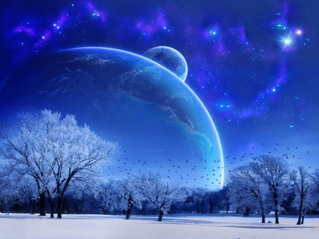 winter hd space wallpaper