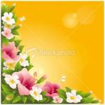 illustration flower background wallpaper