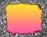 simple pink border wallpaper