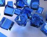 digital blue wallpaper