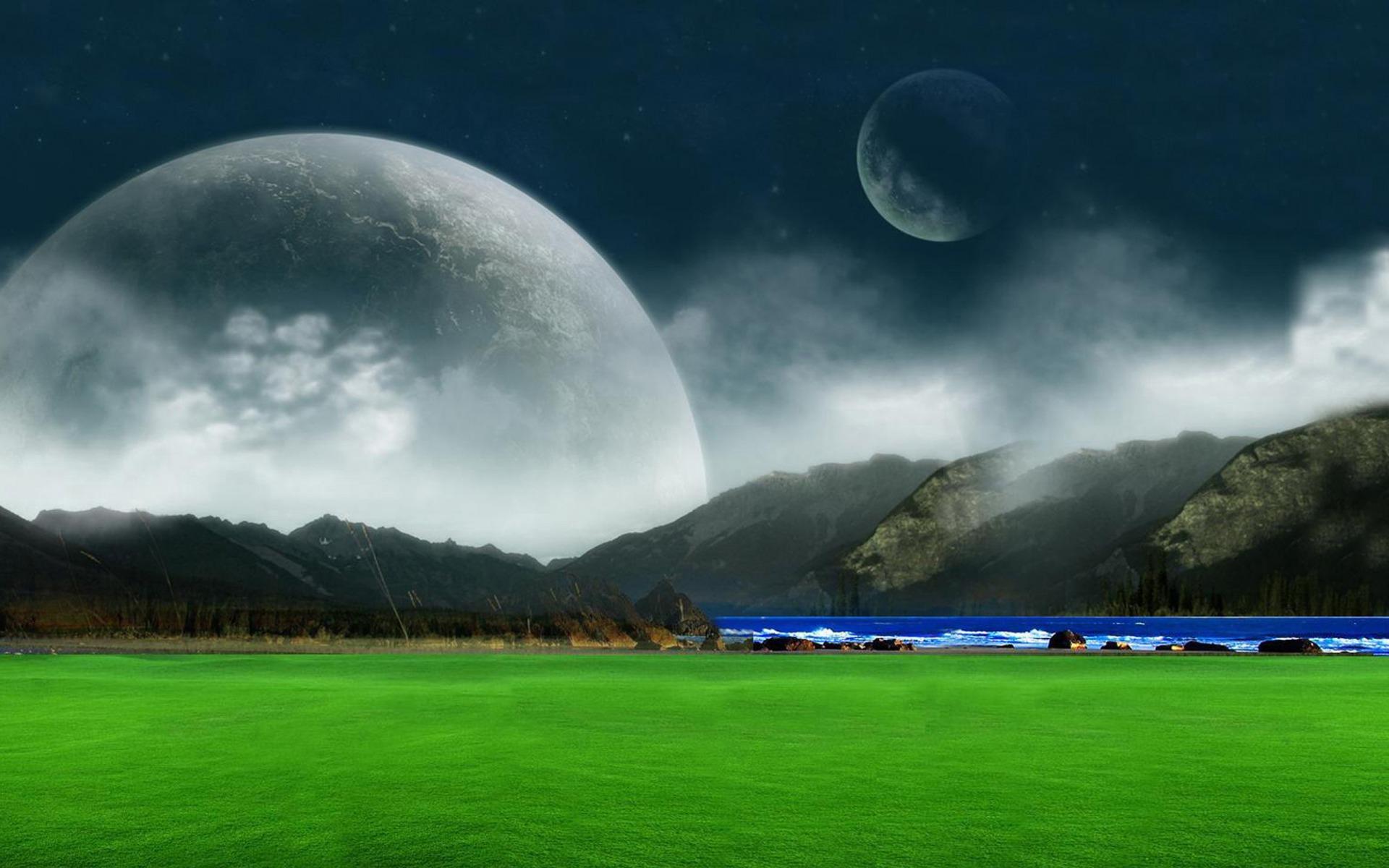green landscape fantasy wallpaper hd