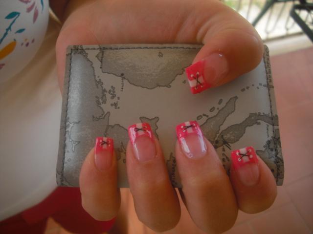 pink nail style wallpaper