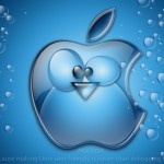 blue apple desktop wallpaper