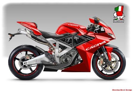 red cagiva bikes
