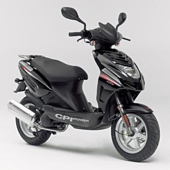 black top CPI scooter
