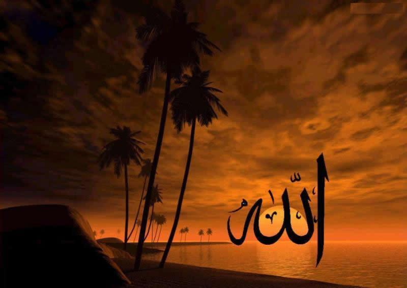 sunset islamic wallpaper