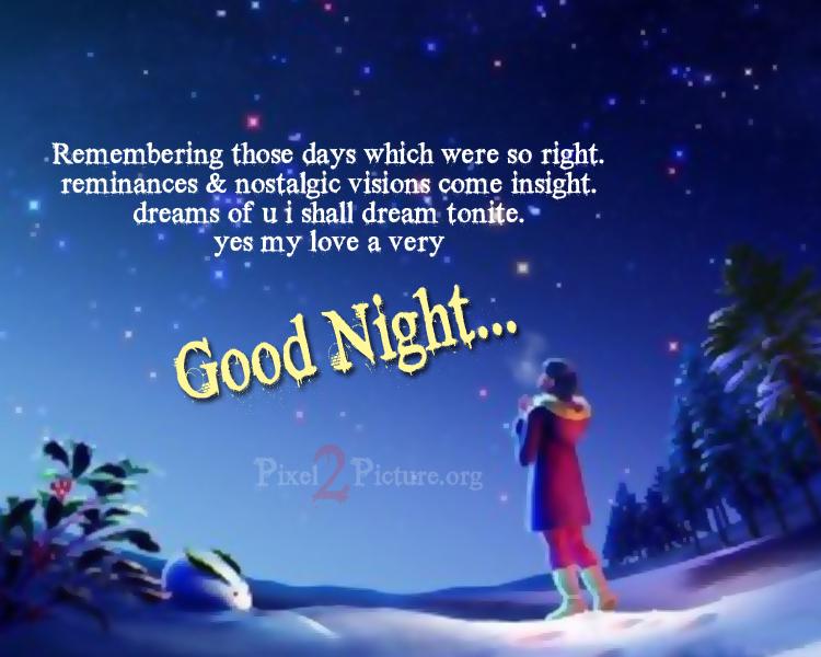 3d good night quote image