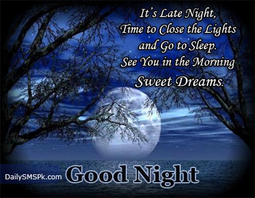 wonderful good night quote image