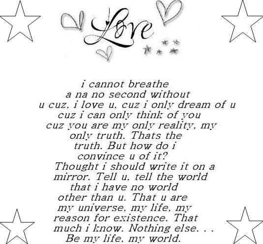 fantasy love poem