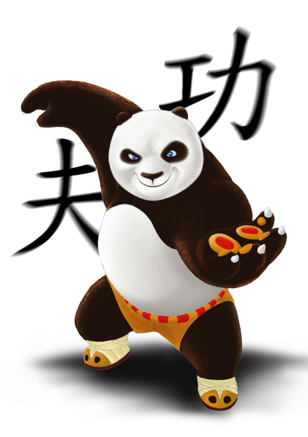 3d kung fu panda image