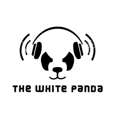 abstract white panda image