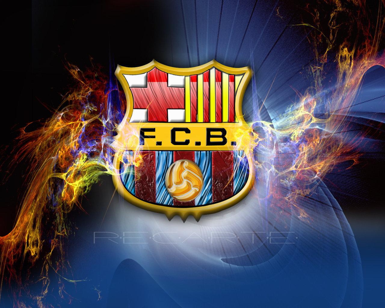 blue background fc barcelona image