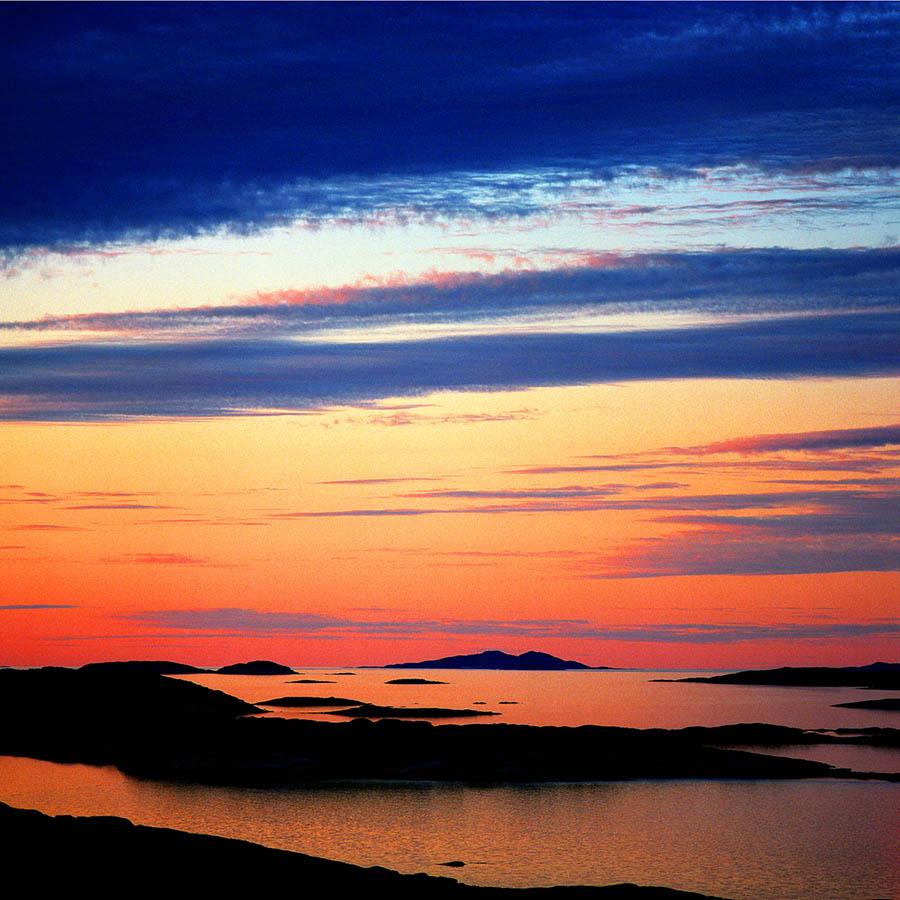 lovely coastal sunset image