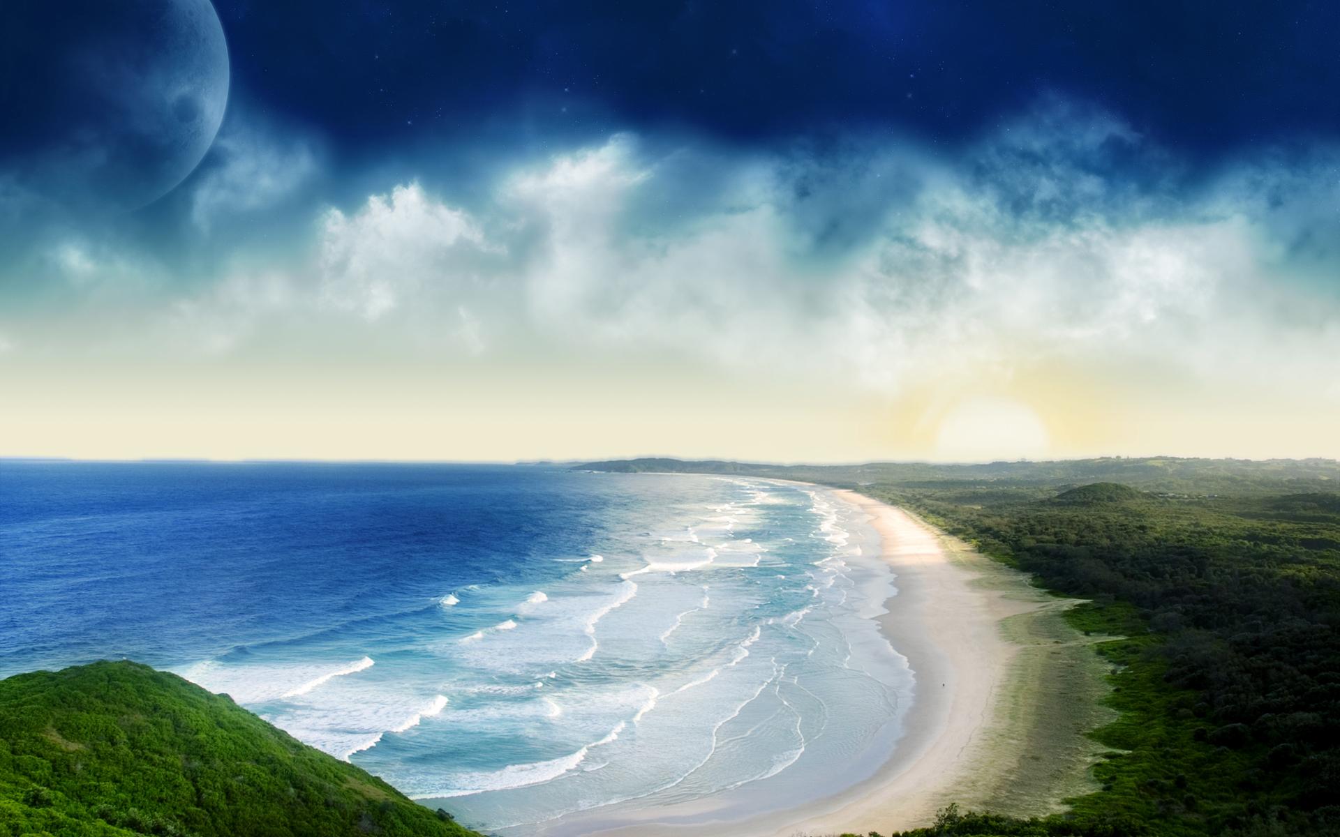 nature coastal sunset photos