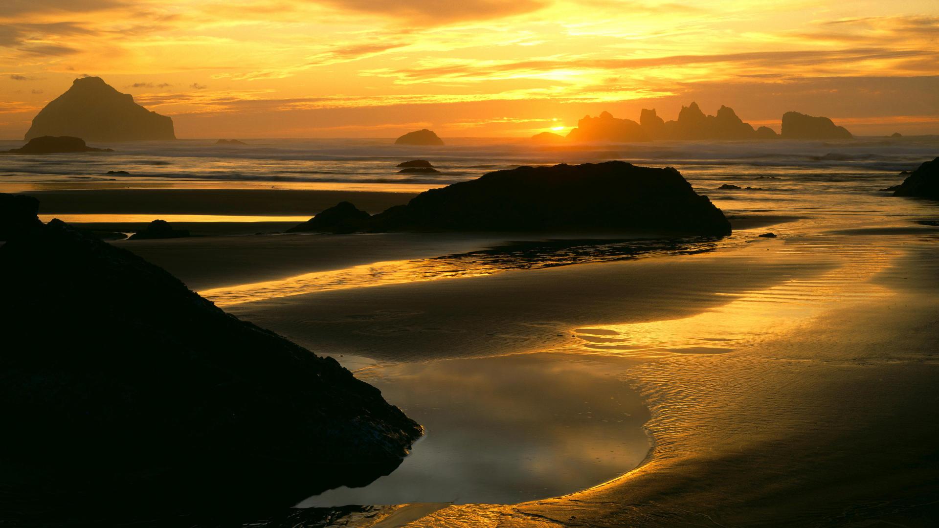 super coastal sunset image