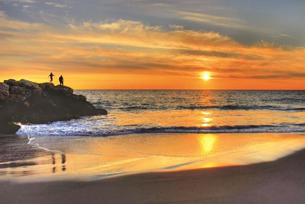 beach coastal sunset image
