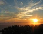 cloudy weather sunset scene