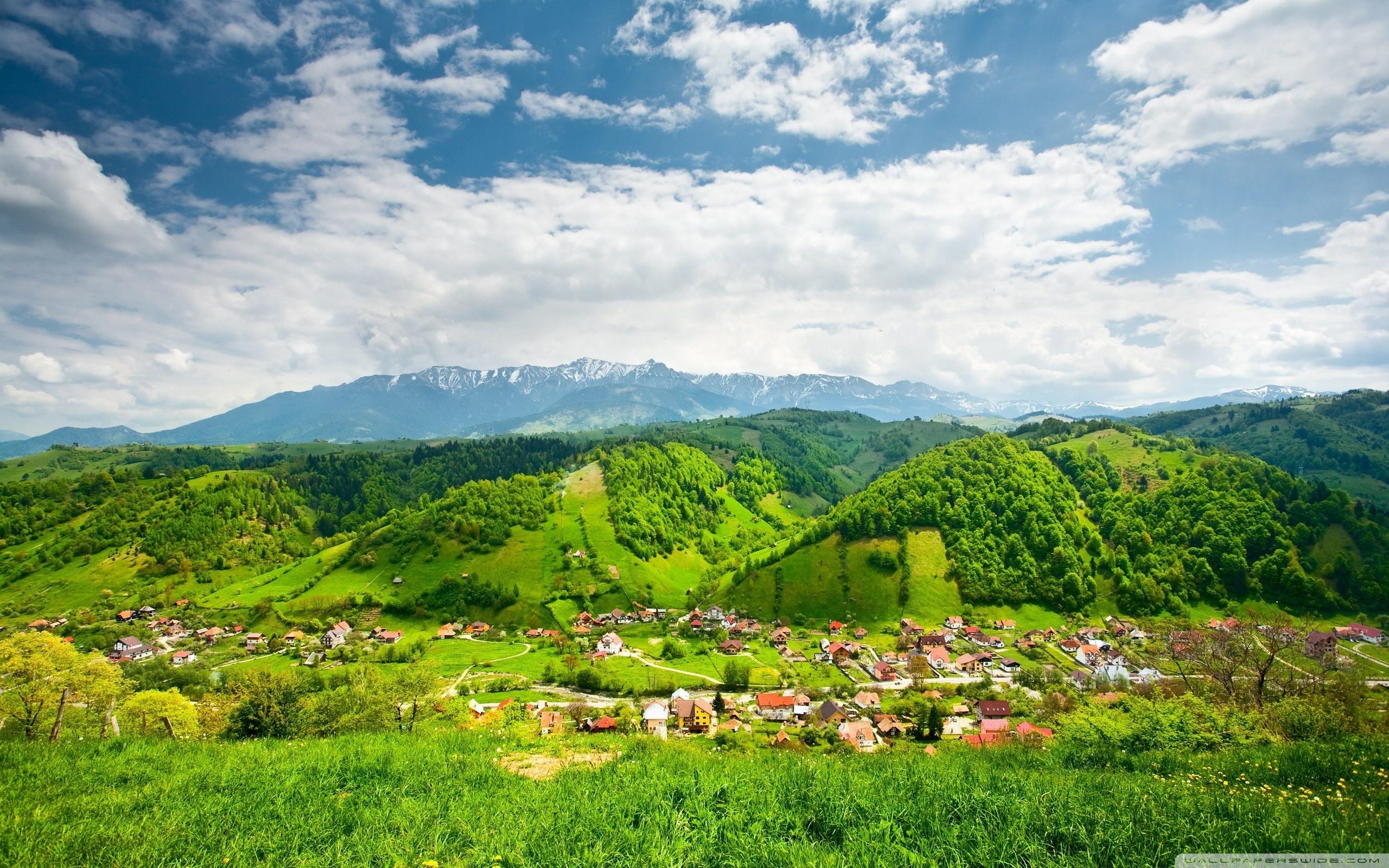 grass mountain village pic