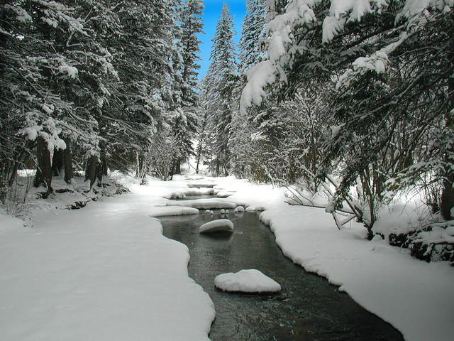 natural snow river photos image