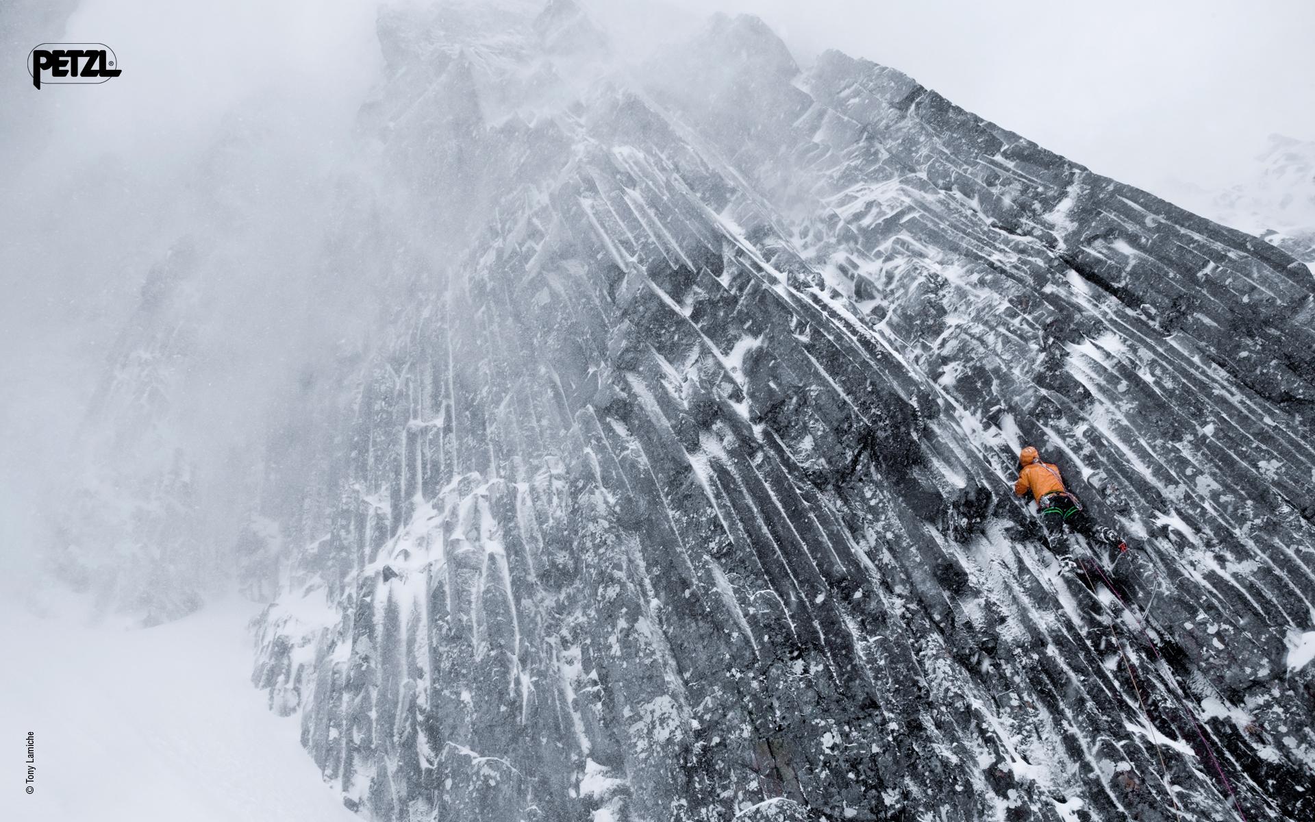 full snow Ice climbing