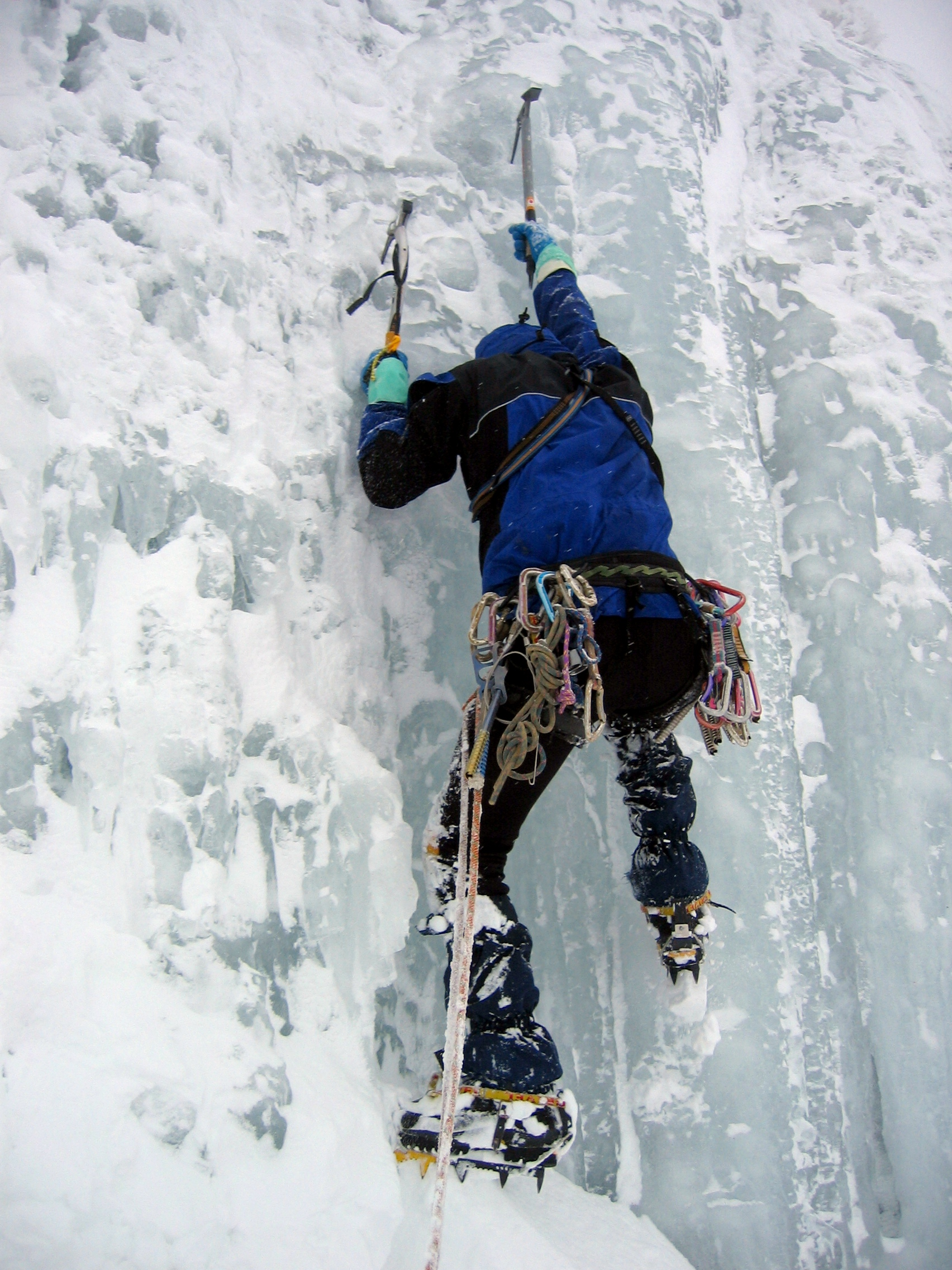 full top mountain climbing