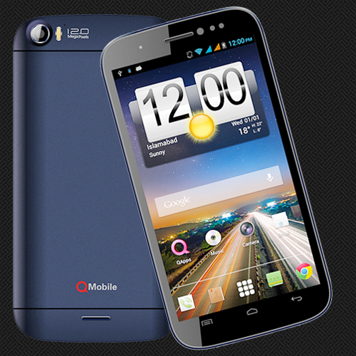 smartphone qmobile noir A75 pictures