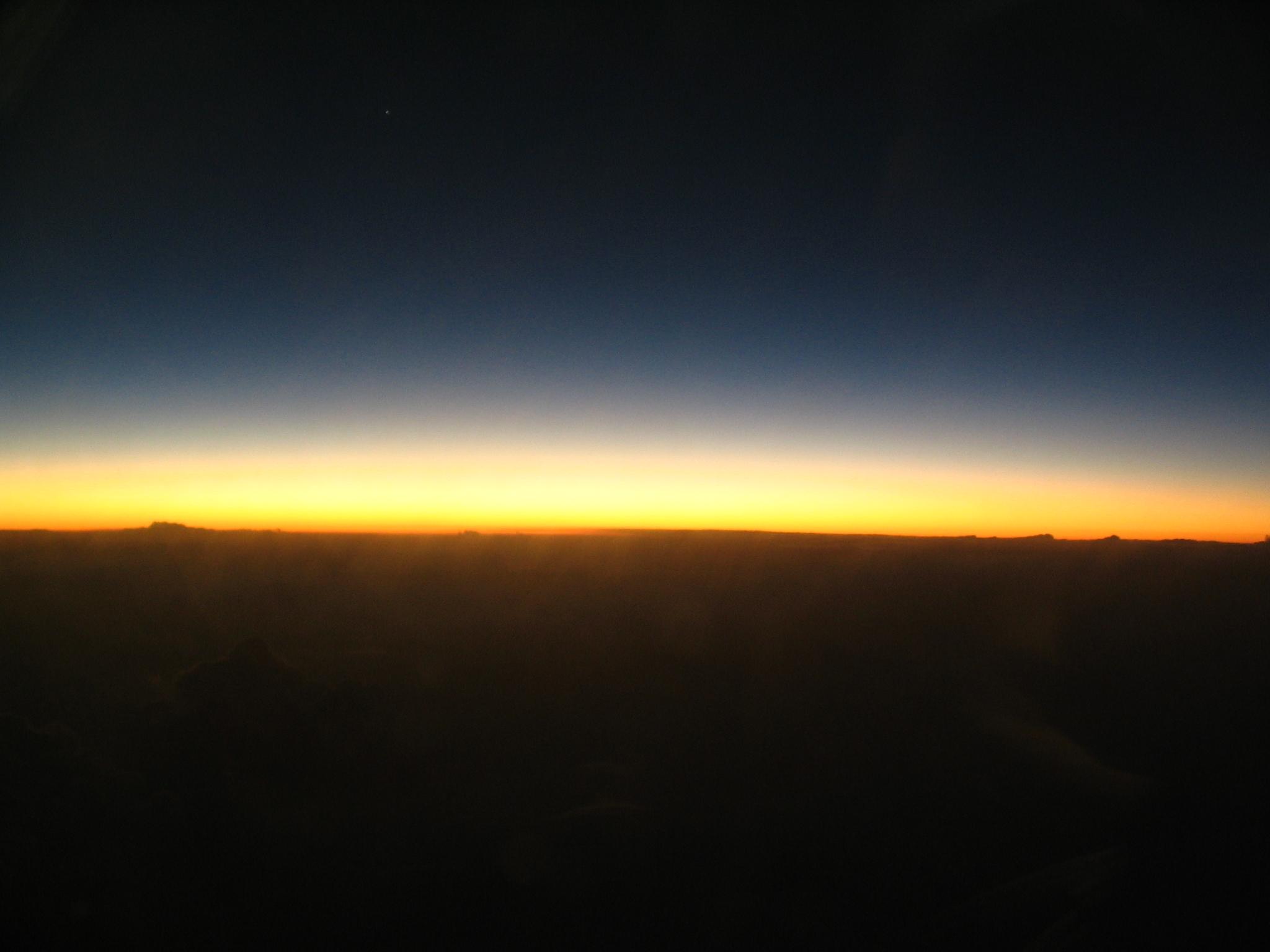 night city sunset on horizon