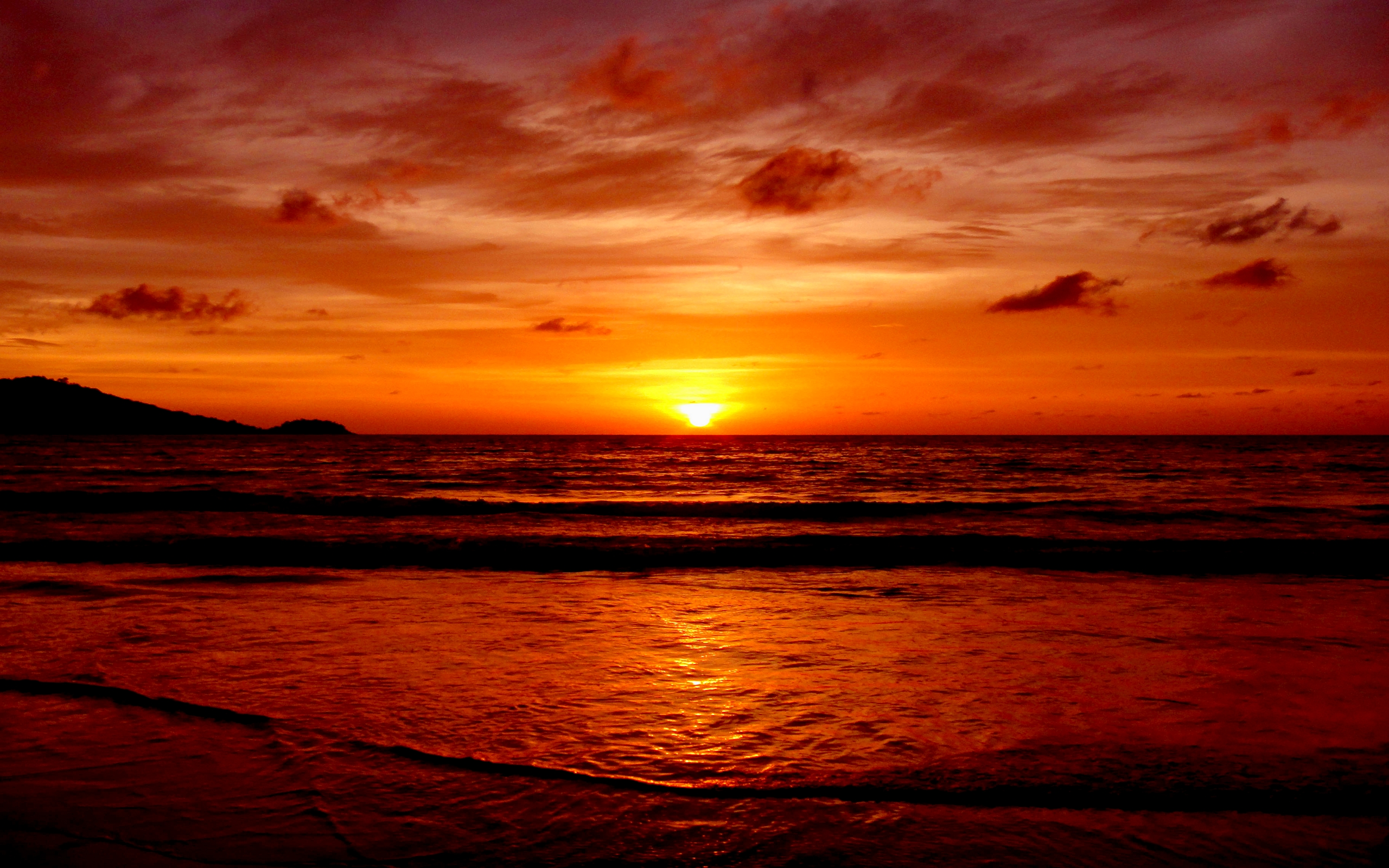 best sunset on horizon image