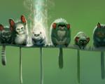 green background 1366x768 wallpaper