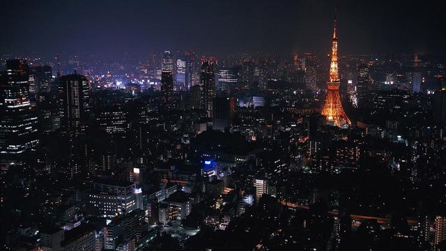 night city 1366x768 wallpaper