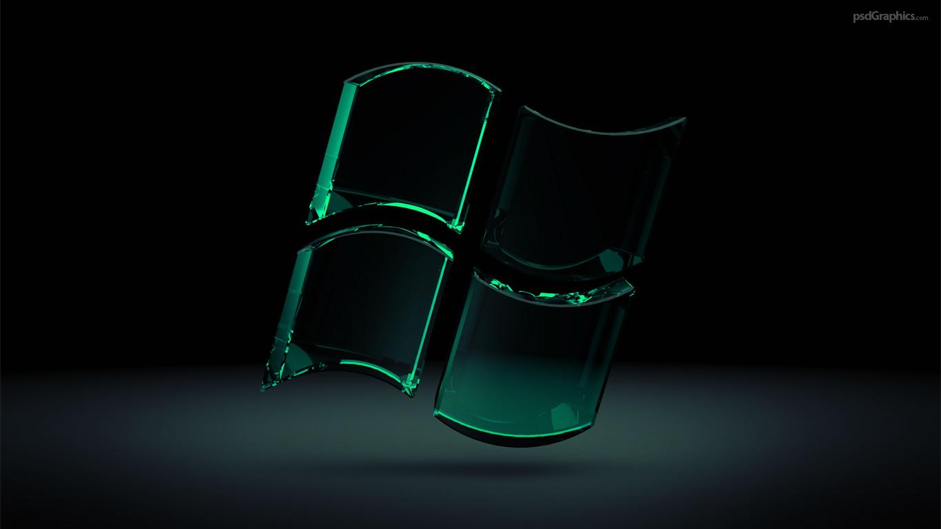 green window 1366x768 wallpaper