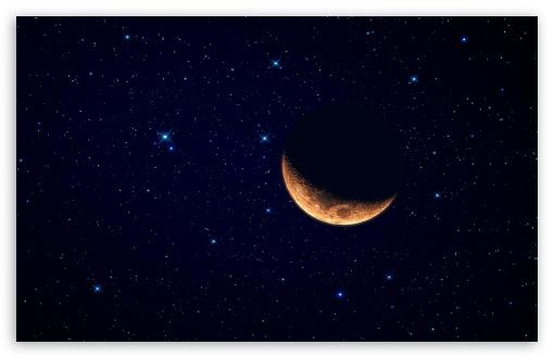 beautiful crescent moon image pc