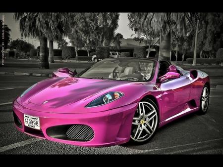 fantastic pink car image
