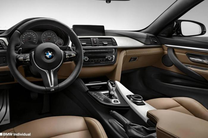 brown BMW M4 interior image
