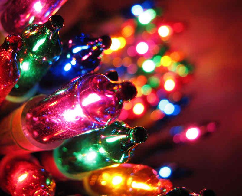 colorful christmas lights photos