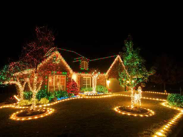 outdoor christmas light image