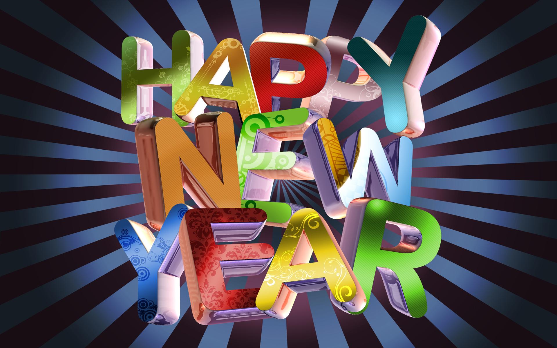3d stunning new year wallpaper image