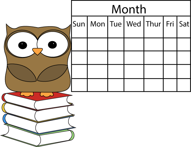 weekly calendar clipart