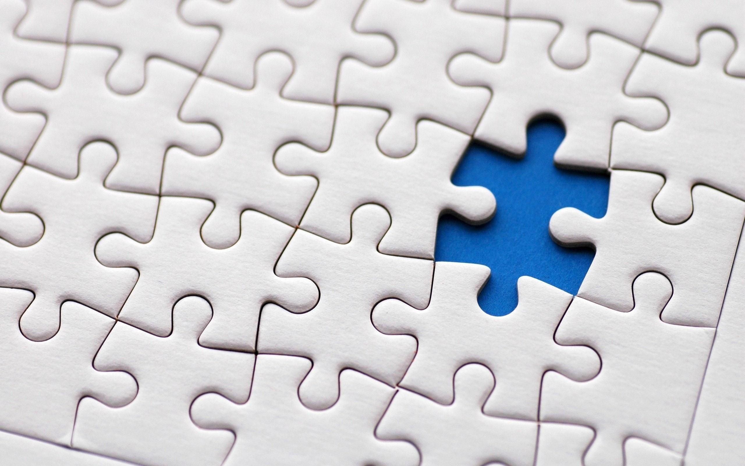 blue white puzzle images