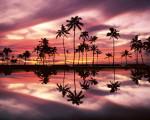 widescreen hawaii beach sunset wallpaper image