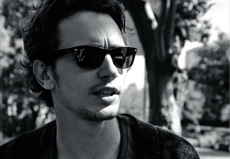 black glasses james franco background