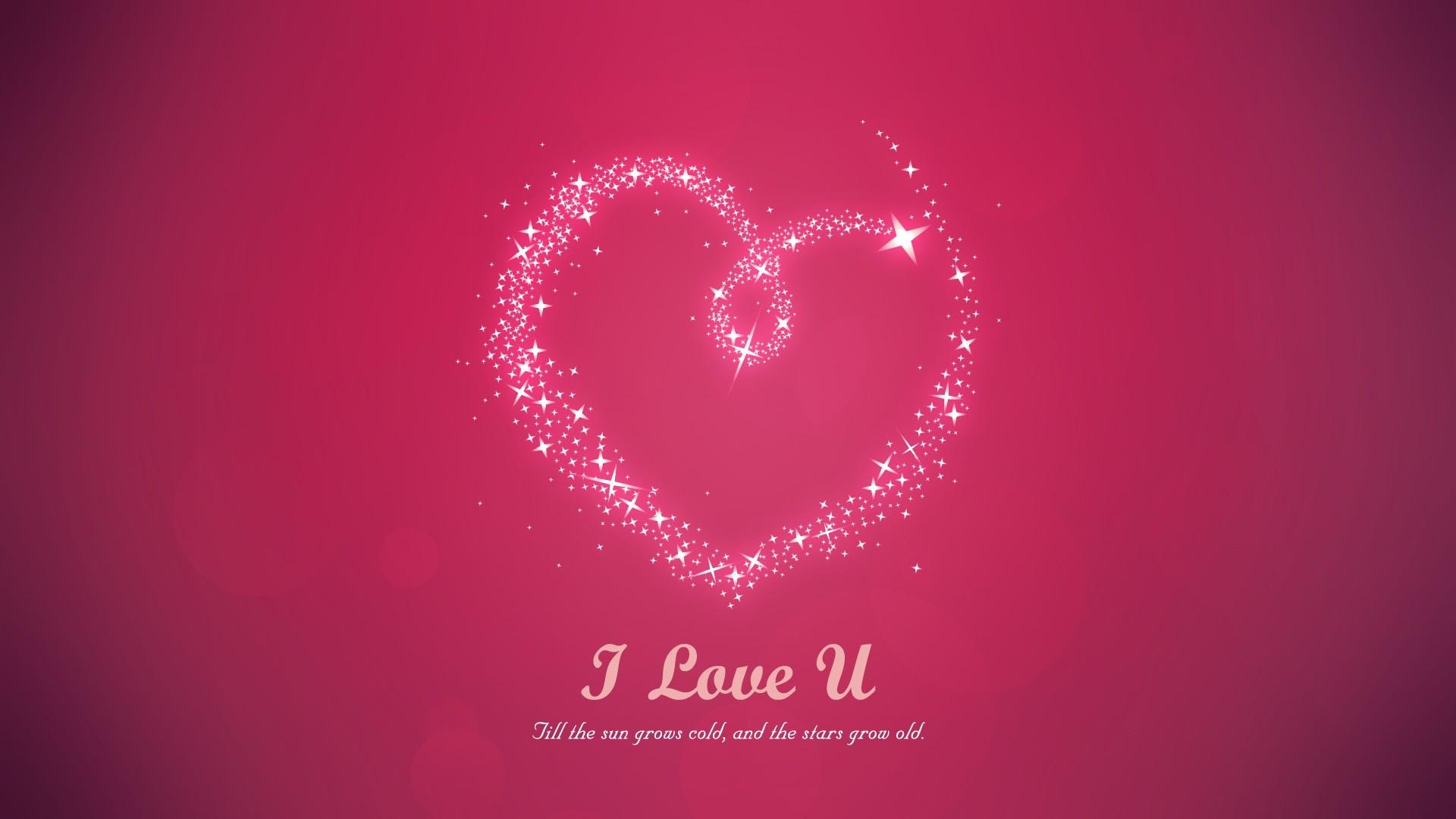 pink i love you wallpaper